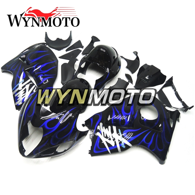 Complete Fairing Kit For Suzuki GSXR1300 Hayabusa Year 97 - 07 Frames ABS Plastic Injection Black Blue Flame Motorcycle Panel