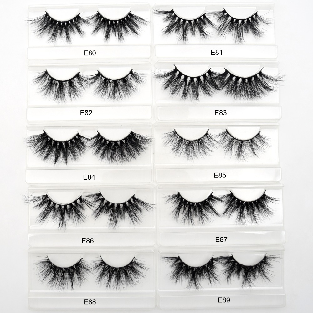 Wholesale Free DHL 50pairs Visofree 25mm Lashes 3D Mink Lashes Dramatic Long False Eyelashes Makeup Extension Mink Eyelashes