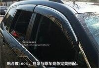 Car Door Window Visor Wind Rain Sun Guards Visor Vent Trims For Subaru Forester 2013 2014