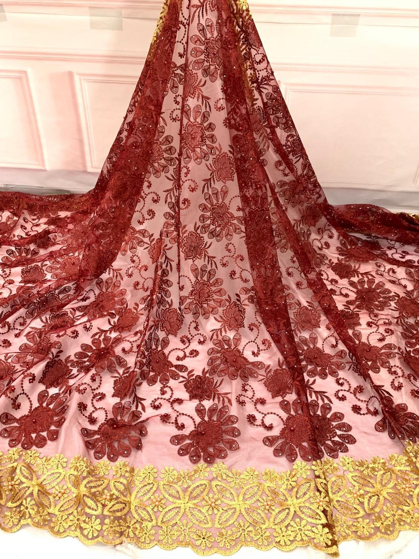 Derniers Styles nigérians avec dentelle nigériane Laser coupe lacets matériel femmes africain français dentelle tissu QF2512B-2