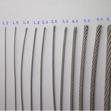 100 м ss316 нержавеющая сталь 0,3 мм трос alambre кабель мягче рыболовный подъемный кабель 7X7 структура 0,4 мм диаметр
