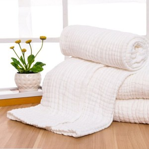Image 1 - 6 Layers Crinkle Cotton Gauze blanket 100% Cotton customize color big size 142x228 cm blanket 100 pieces customize