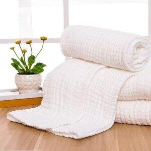 Image 1 - Manta de gasa de algodón arrugado de 6 capas, 100%, algodón, talla grande y color personalizado, manta de 142x228 cm, 100 piezas personalizadas