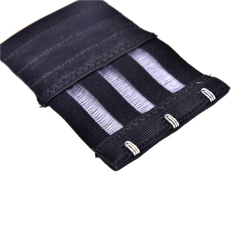 Stainless Steel Silk Ribbon 3 Rows 3 Hooks Bra Extender Elastic Fish Microfiber Style Bra Lengthened Buckle Adjustable Buckles