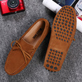 Peas shoes male leather matte spring breathable lazy kicking English men's shoes summer couple young driving shoes 906