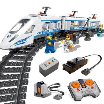 RC Train Technic City Car Truck Model Building Blocks Boy Birthday Gifts Educational Remote Control Toys For Children