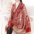 Высокое качество шелковый платок Женщины Толстый шарф женщина Шарфы Роскошные полноценно Бренд Дизайнер Флис платок длинный scarves-b161