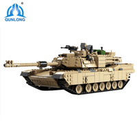 Qunlong Century Military M1A2 Abrams Tank Cannon Deformation Hummer Cars Building Block Bricks Toys For Kids Compatible Legoings