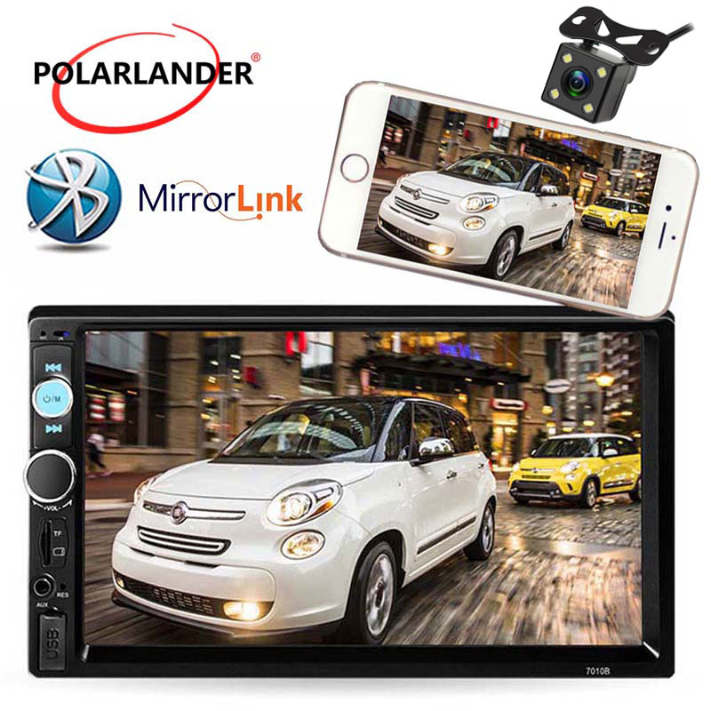 2 DIN 7 Inch Car Radio Player MP4 Mp5 Player Touch Screen FM/USB/AUX/TF Bluetooth In Dash Stereo with rear camera Mirror Link 7 inch 2din car radio mp5 player mp4 touch screen bluetooth rear camera dvr input stereo steering wheel control fm usb tf aux
