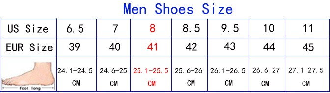men shoes size