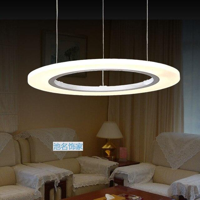 60 CM Moderne Kreis LED Pendelleuchten 36 Watt Wohnzimmer Suspension Hanglamp Acryl Anhnger Beleuchtung Fr Restaurants