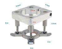 Aletler'ten Freze Kesici'de 1 adet doğrama gravür makinesi Aksesuarı Ana Eksen Otomatik Plaka Cihazı DIY Sparepart CNC Plaka Jig Fikstür 65mm