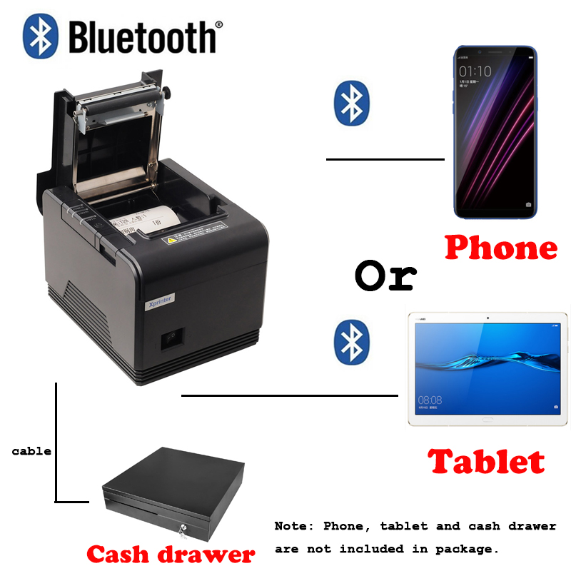 Free P.O.S Pos system Loyverse 80mm Bluetooth Thermal Receipt Printer Pos Printer For Android devoice and iOS
