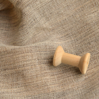 Zakka Sesame Color Horseshoe Ramie Tea Table Tablecloth Cover Cloth Suit Hard Lining Shooting Background Fabric