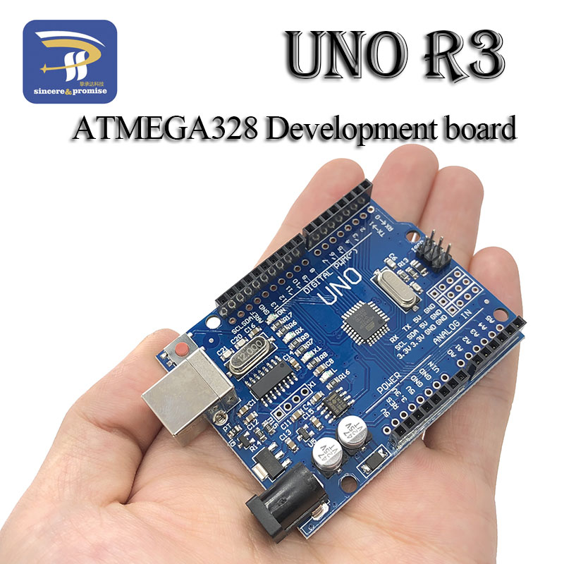 One Set UNO R3 Development Board ATmega328P CH340 CH340G For Arduino DIY KIT With Straight Pin Header (NO USB CABLE)