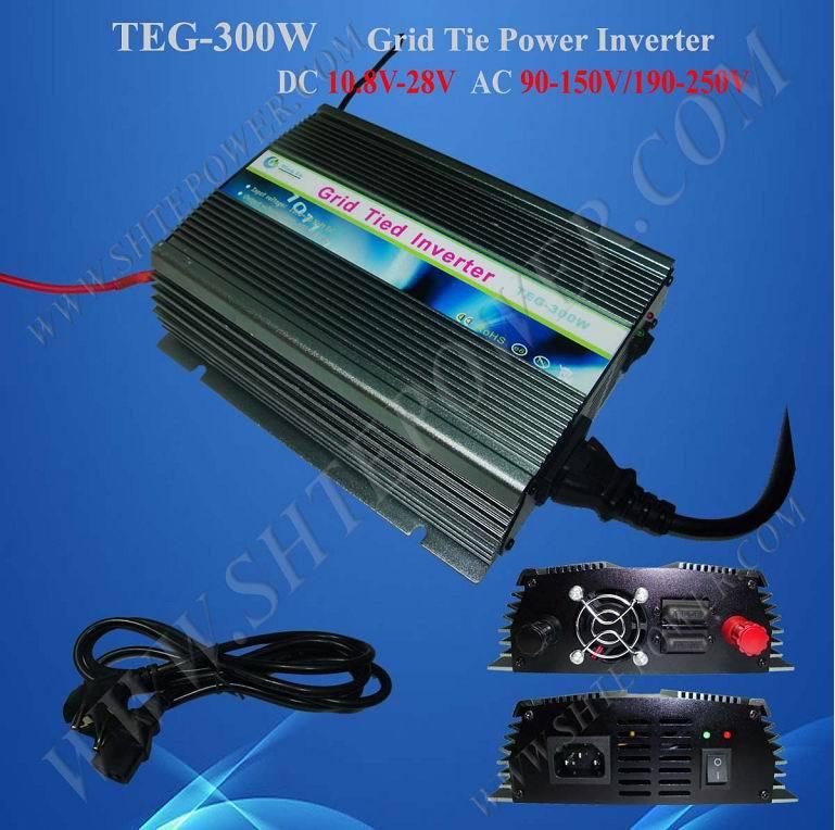 MPPT control DC 10.8-30v to AC solar power 300w 220v grid tie inverter solar power on grid tie mini 300w inverter with mppt funciton dc 10 8 30v input to ac output no extra shipping fee
