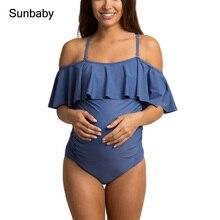 Новые летние беременные купальники сплошной цвет без бретелек Цельный купальник для беременных T0406