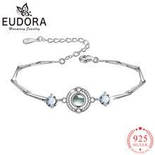 Женский браслет с цирконием eudora Настоящее серебро 925 пробы
