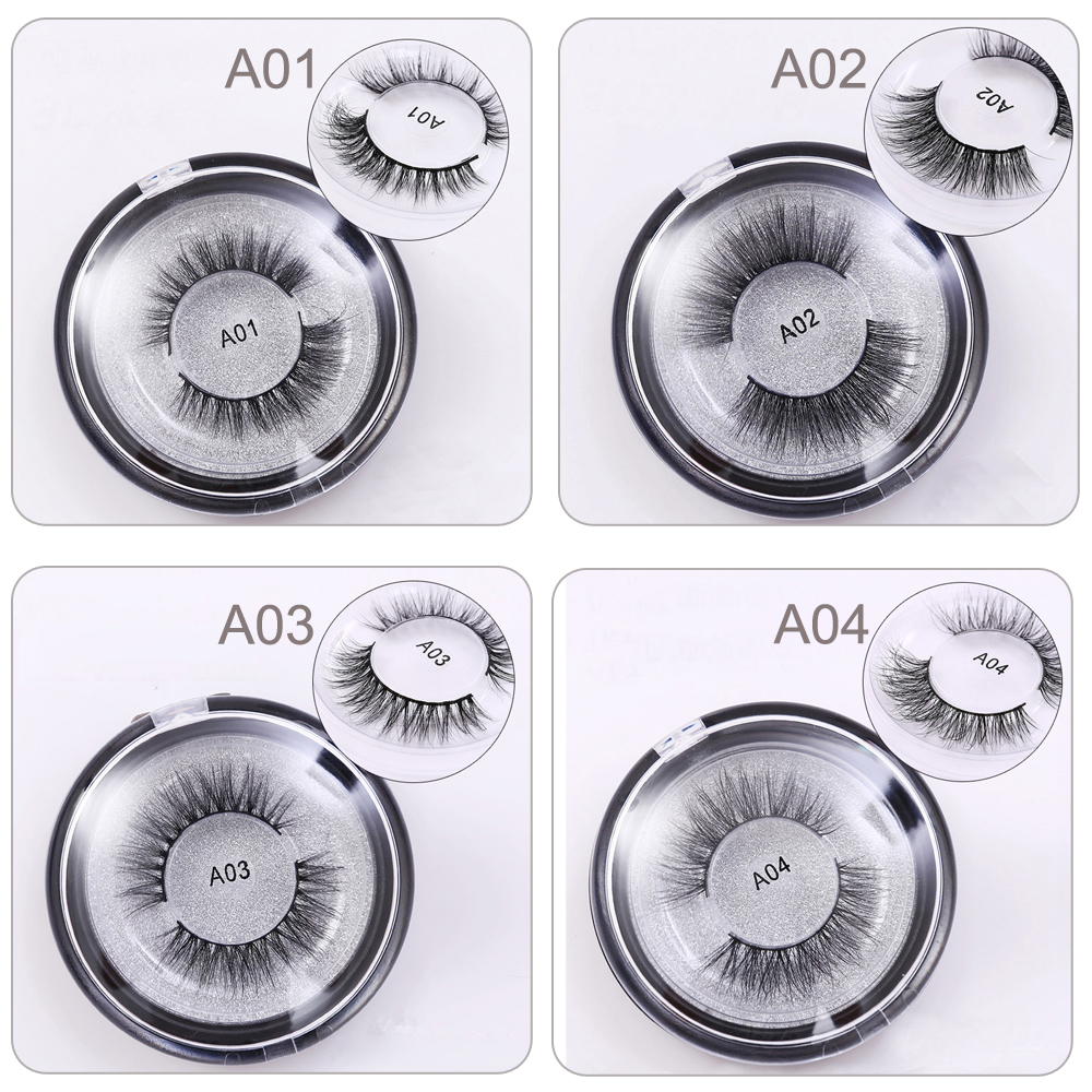 mink øjenvipper 3D mink lashes Langvarig Tykkelse falske øjenvipper Crisscross Natural Mink Øjenvipper Round box Glitter Emballage