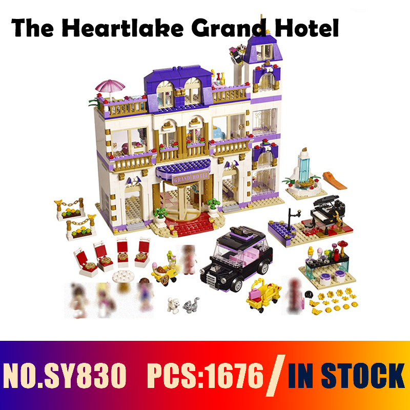 Compatible with lego friends 41101 Models building toy SY830 1676PCS The Heartlake Grand Hotel Building Blocks toys & hobbies lepin 01045 1676pcs girls series heartlake grand hotel set children eucational building blocks bricks toys model gift 41101