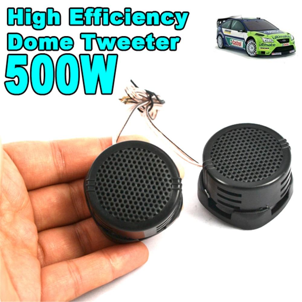 Dome Tweeter Speaker Auto-Sound Mini Super-Power Audio Music Universal High-Pitch Black