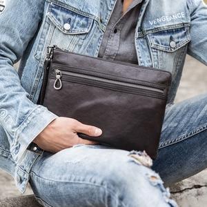 Image 2 - Bolso de mano AETOO para hombre, sobre, de piel, nuevo, suave, de gran capacidad, bolso de mano, bandolera