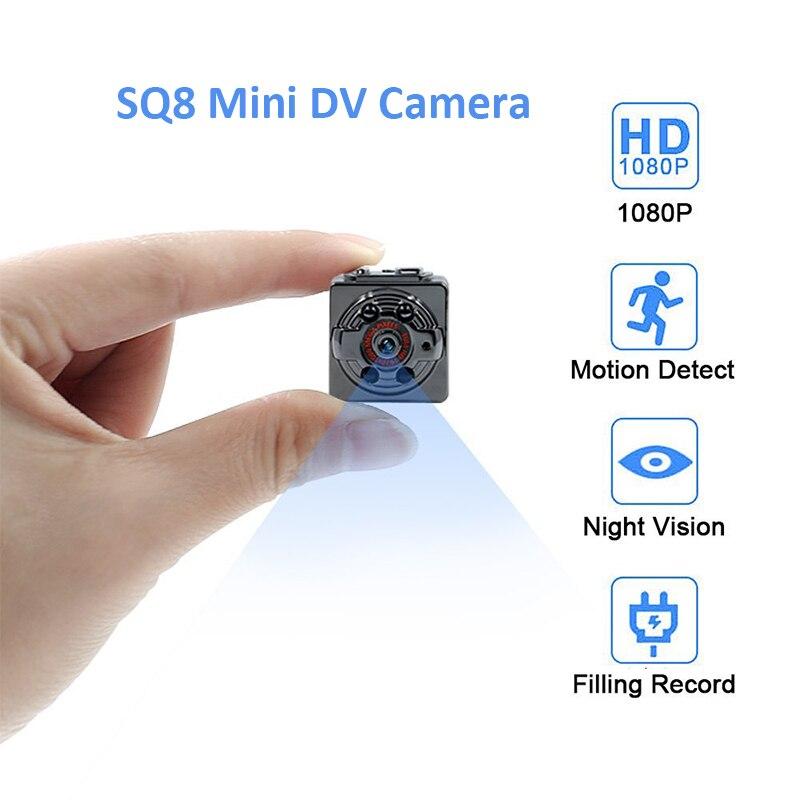 SQ8 Full HD 1080P Mini cámara infrarroja de visión nocturna Micro - Cámara y foto