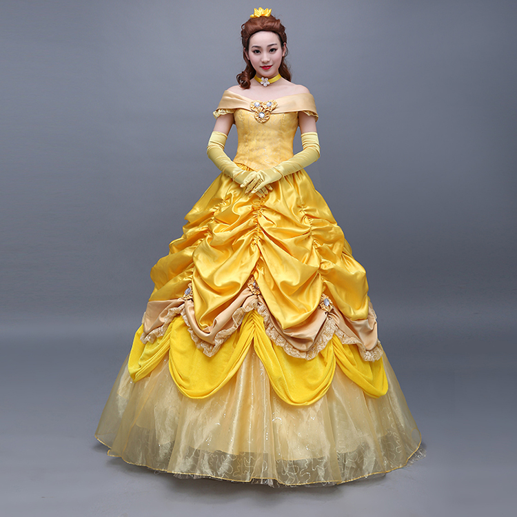 Adult size Golden Yellow Belle of the Ball Costume Beauty and the Beast  fnt