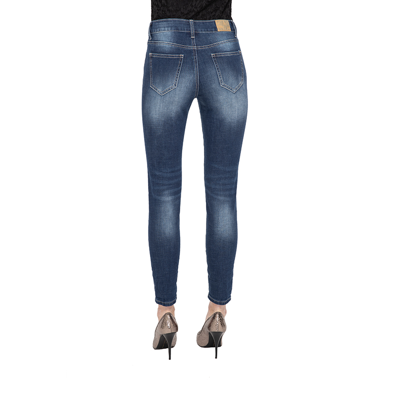 My Will Jeans Blue Knee-Length Jeans Fashion 7083 Made In China