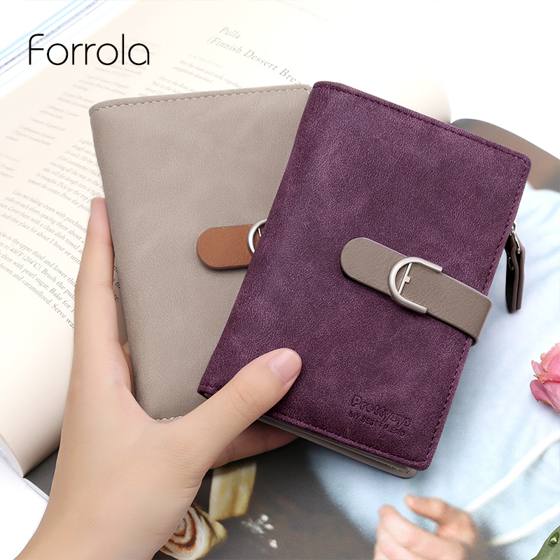 Latest Women's Leather Famale Vintage Wallet Brand Designer Zipper Coin Purse Wallets Card Holder Clutch For Girls Sac