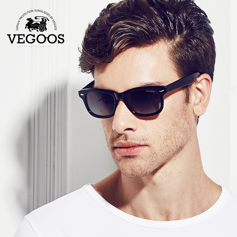 VEGOOS Classic Vintage polarized square sunglasses men women Brand designer sun glasses for lovers couples #2140