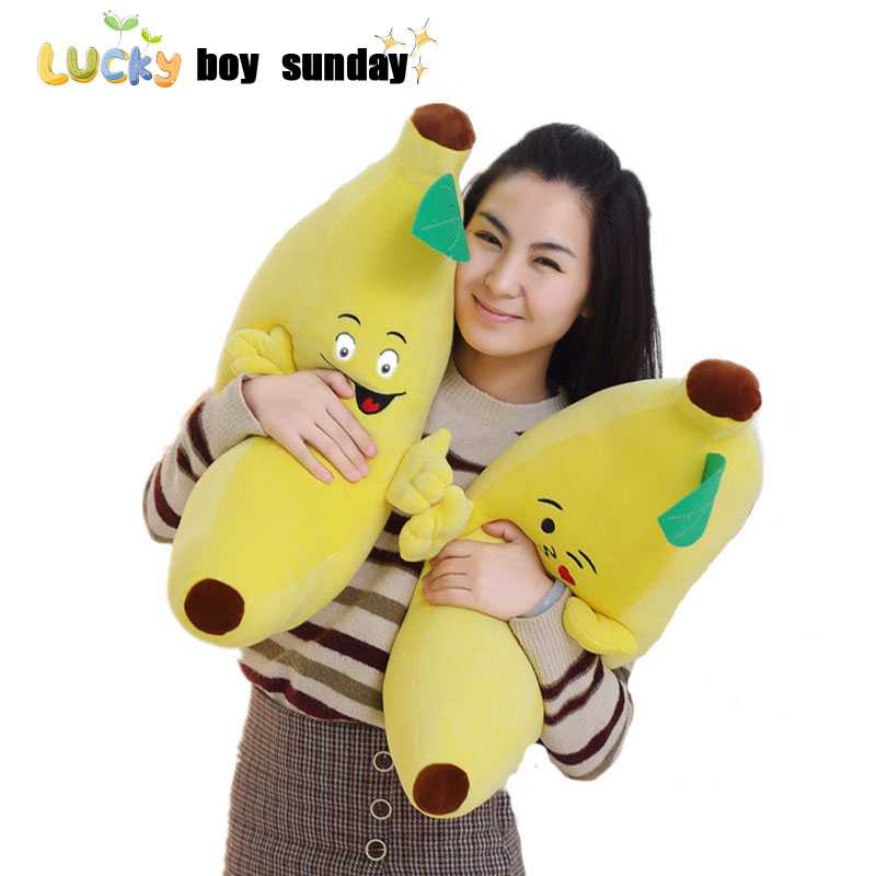 lucky boy sunday banana plush toy soft plant banana pillow super soft kids toys baby kids