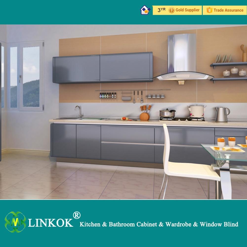 Linkok Muebles De Alto brillo gabinetes de cocina de madera de ...