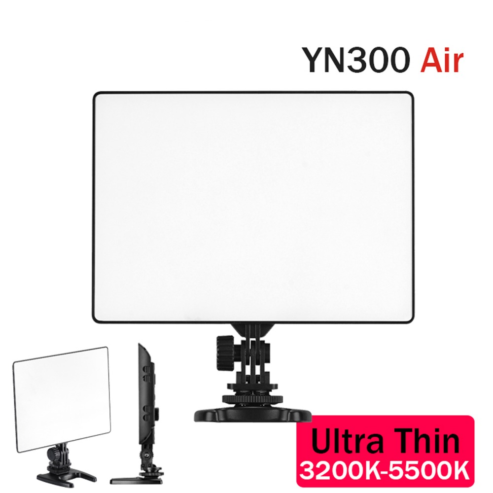 YONGNUO YN300 air YN-300 air Pro LED photographic Video light 5500K Camera Video Light video photography Light For Canon Nikon yongnuo yn300 air 3200k 5500k yn 300 air pro led camera video light with np f550 battery and charger for canon nikon
