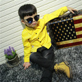 The boy long sleeved shirt Korean children fall 2016 new corduroy shirt free shipping