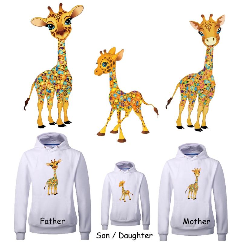 Christmas Giraffe Patches For Clothing Dresses DIY Decor Heat Press Appliqued ME