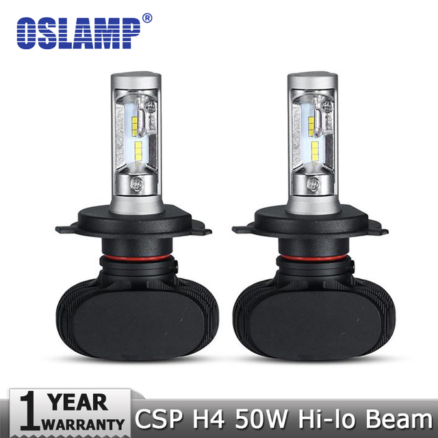 Oslamp h4 hi-lo haz llevó la linterna del coche del bulbo 50 w 6500 k 8000lm led auto faro cree csp chips de faros para toyota/hyundai/kia