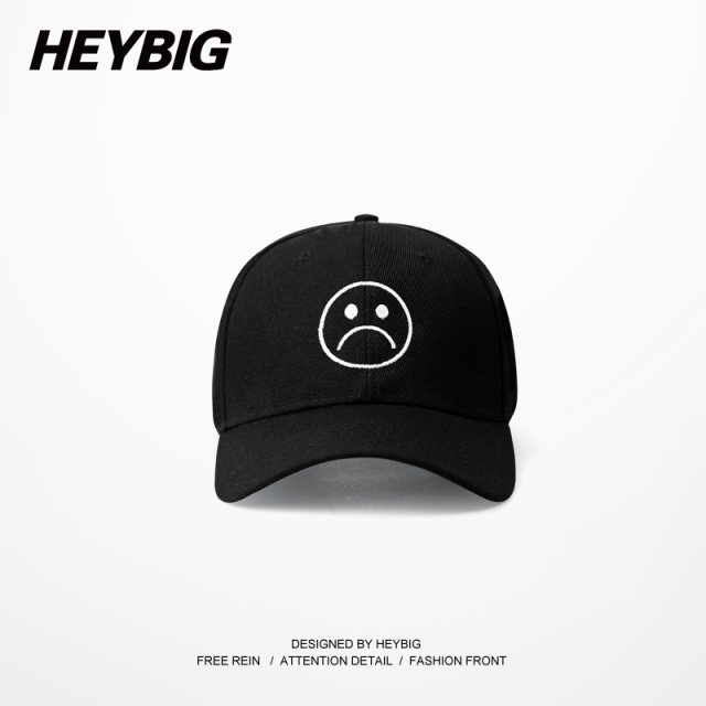 Sad Boys Adjustable Hat crying face Baseball cap Hip hop Heybig Headwear  Black Harajuku Skateboard Hats dc36861b893f