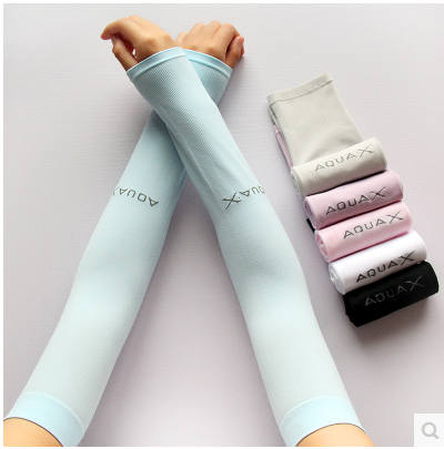 Free Shipping Summer 6 Color Cooling Arm Sleeves Sun Protective UV Cover 1 Pair Variety Color Sports Golf Fishing Arm Warmers