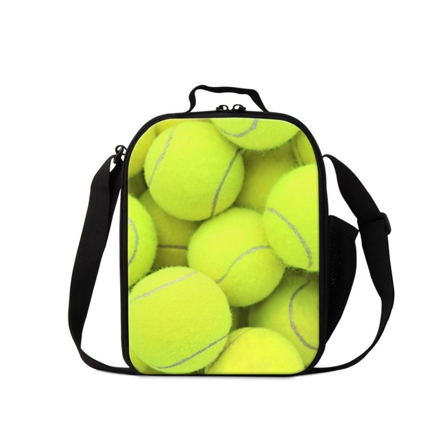 Cute Lunch Cooler Bags for Girls Green Ball 3D Pattern Lunch Container for Kids Best Insulated Meal Bag Messegner Lunch Box Bag