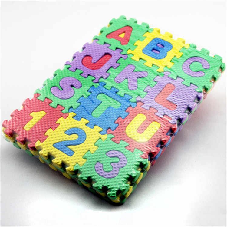 36 個キッズパズルおもちゃ Eva フォームマットアルファベット文字数字パズル子供の知能開発風呂水フローティングおもちゃ