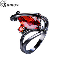 Bamos Mysterious Hot Red AAA Zircon Horse Eye Finger Accesso