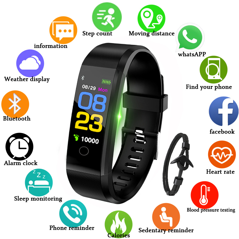 GEJIAN Brand font b Smart b font Watch Men Women Heart Rate Monitor Blood Pressure Fitness