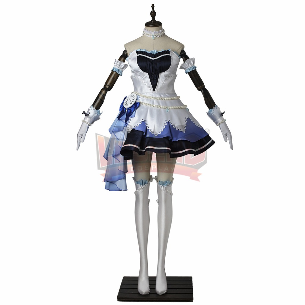 The IDOLM@STER Cinderella Girls: Starlight Stage CGSS Cosplay Blue adult costume all size custom made full set girl costume