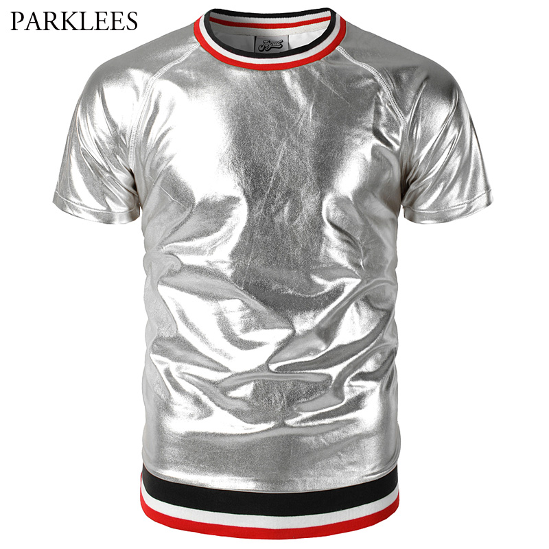Aliexpress.com : Buy Sliver Coated Metallic Raglan Sleeve
