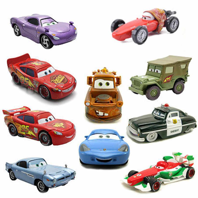 Mobil Disney Pixar Cars 2 Cars 3 Lightning McQueen Fast Racing Keluarga Jackson Badai Banyak Gaya 1:55 Diecast Metal Alloy mobil Mainan