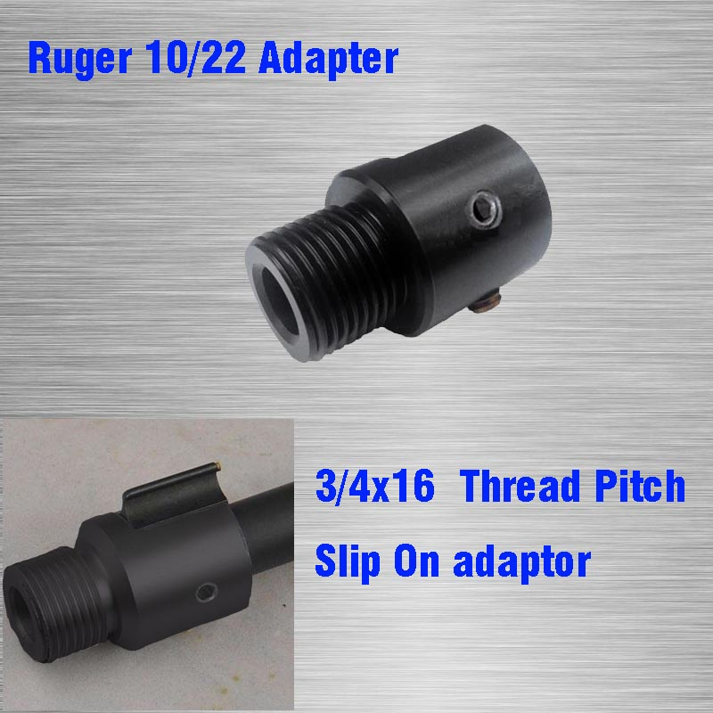 Barrel End Threaded Adapter for Ruger 1022 10/22 Thread Barrel Adapter 3/4 16 3/4x16 Slip On adaptor|Hunting Gun Accessories| |  - title=