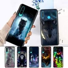 Black Silicone Cover Case for Huawei P30 P20 P10 Mate 20 10 Lite Pro Nova 4 4E 3E P Smart 2019 Plus Shell Classic Cool Wolf Hips