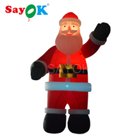 16 4 Feet Christmas Decoration Inflatable Santa Claus With Led Lighting Giant Inflatable Santa Claus For