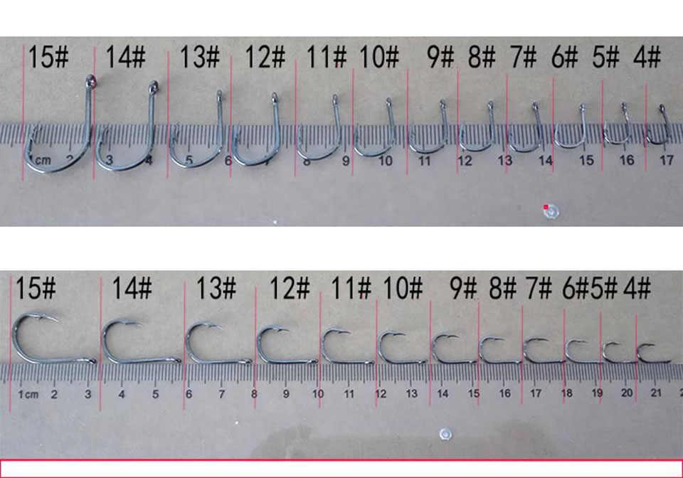 100 Chiếc Thép Carbon Cao Cấp Fishhooks Thép Gai Móc Mềm Dụ Mồi Câu Cá Cá Móc Cao Cấp Thép Gai Móc Câu Cá